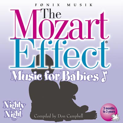 N/A Mozart for babies nighty  nighty   - mozart effekten - fønix musik på bog & mystik