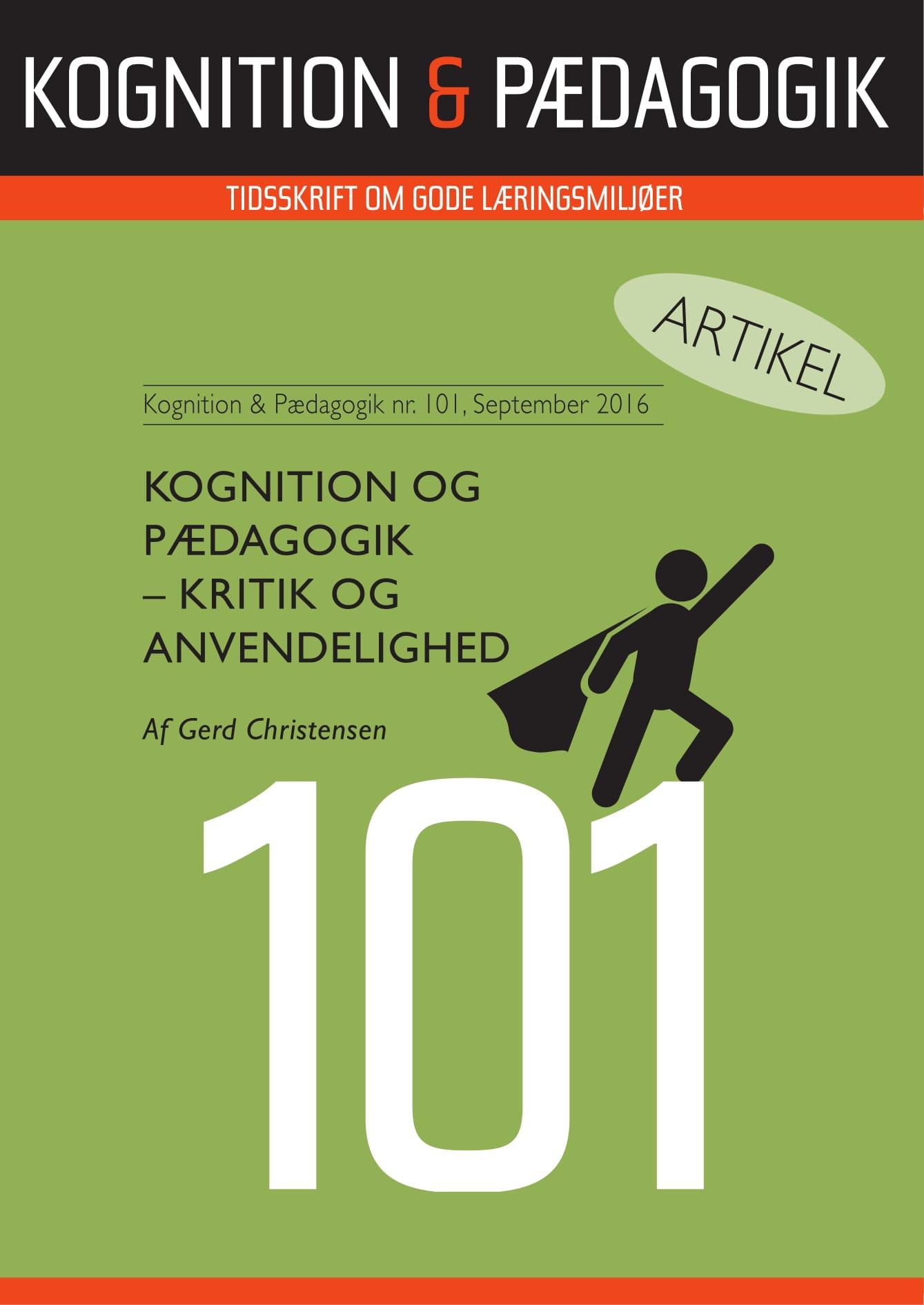 Image of   Kognition og Pædagogik - kritik og anvendelighed - E-bog
