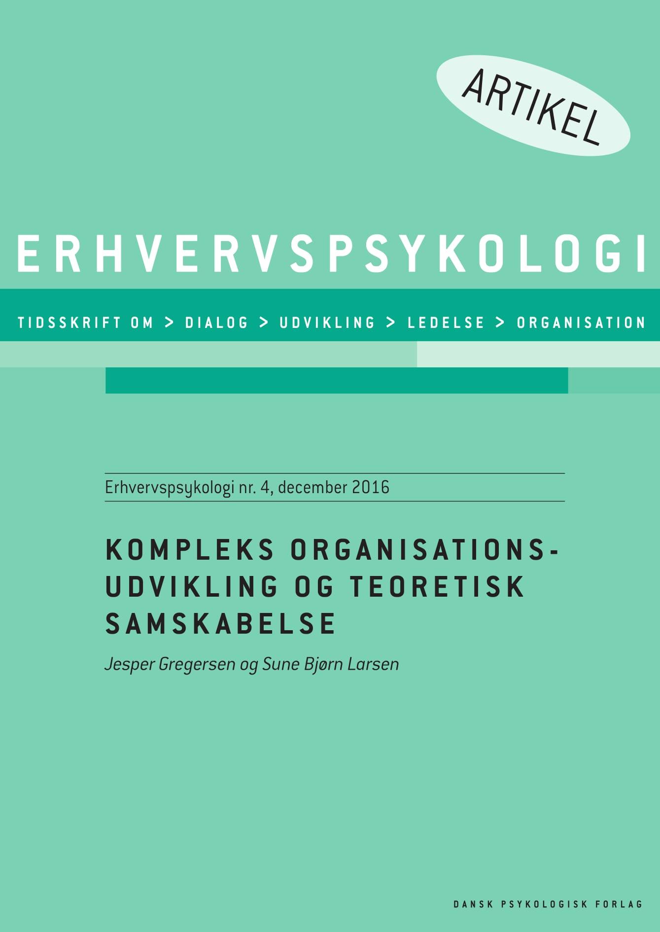 N/A Kompleks organisationsudvikling og teoretisk samskabelse - e-bog fra bog & mystik