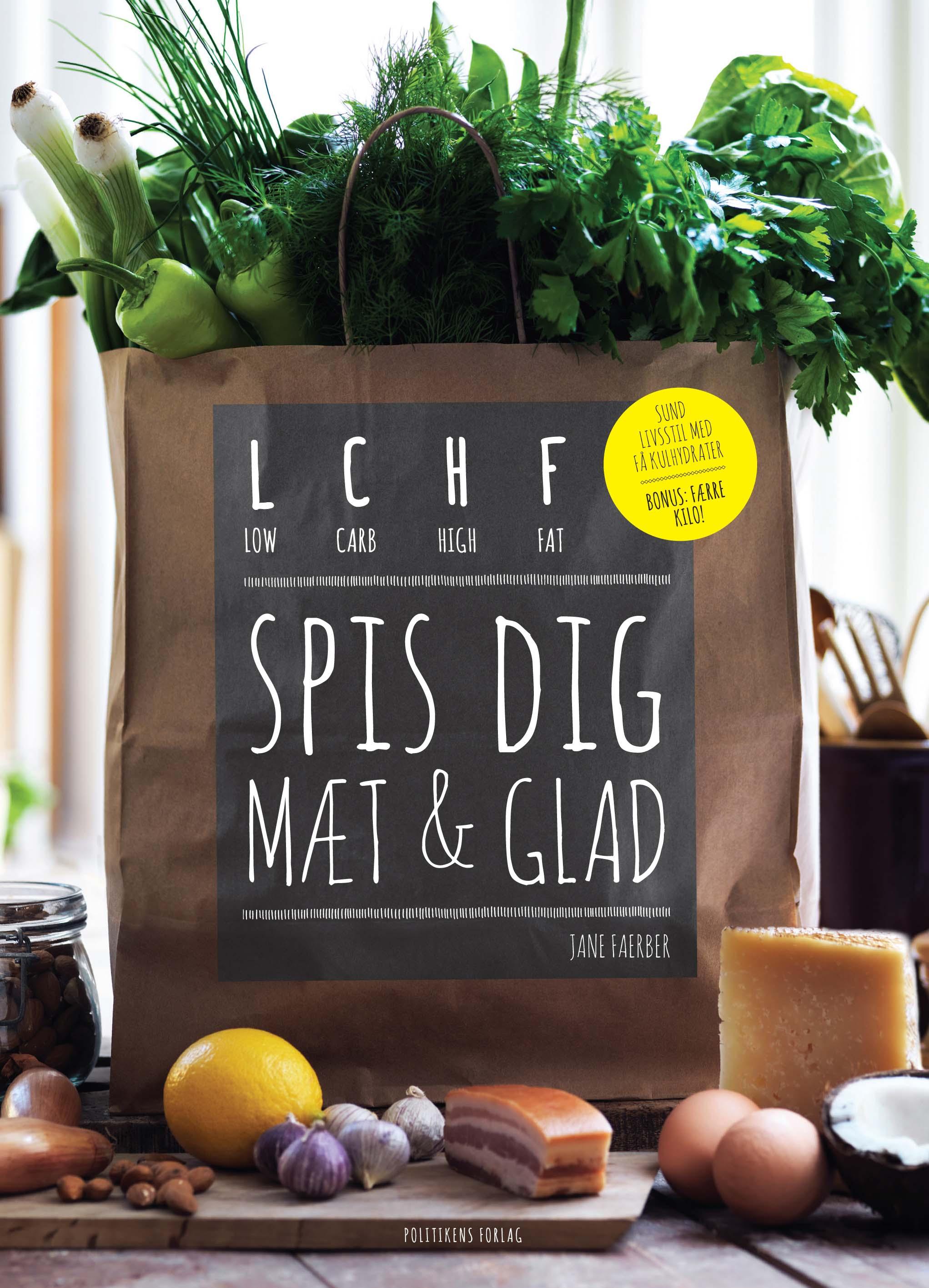 Lchf - spis dig mæt og glad - e-bog fra N/A på bog & mystik