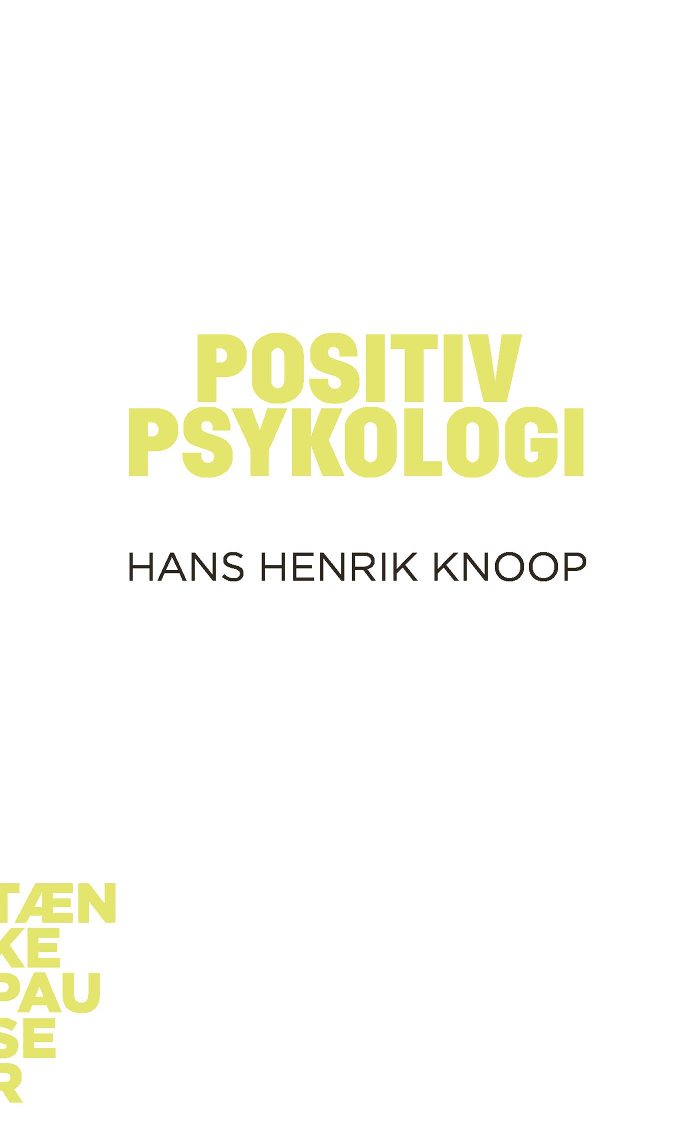 N/A – Positiv psykologi - e-bog fra bog & mystik