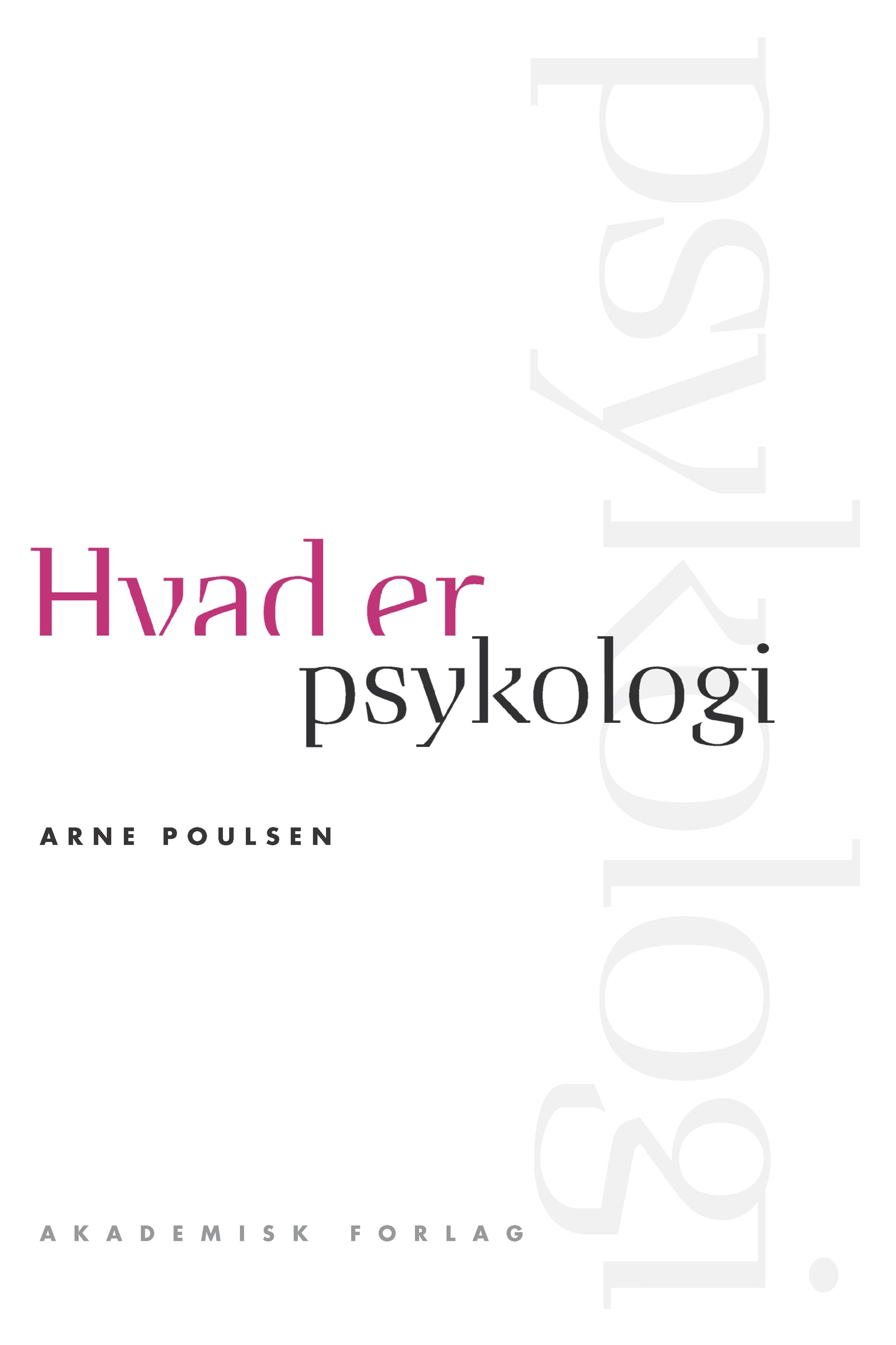 Image of   Hvad er psykologi - E-bog