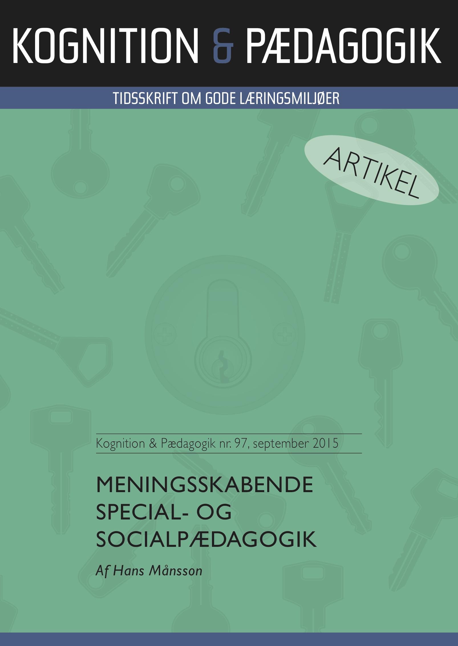 N/A Meningsskabende special- og socialpædagogik - e-bog på bog & mystik