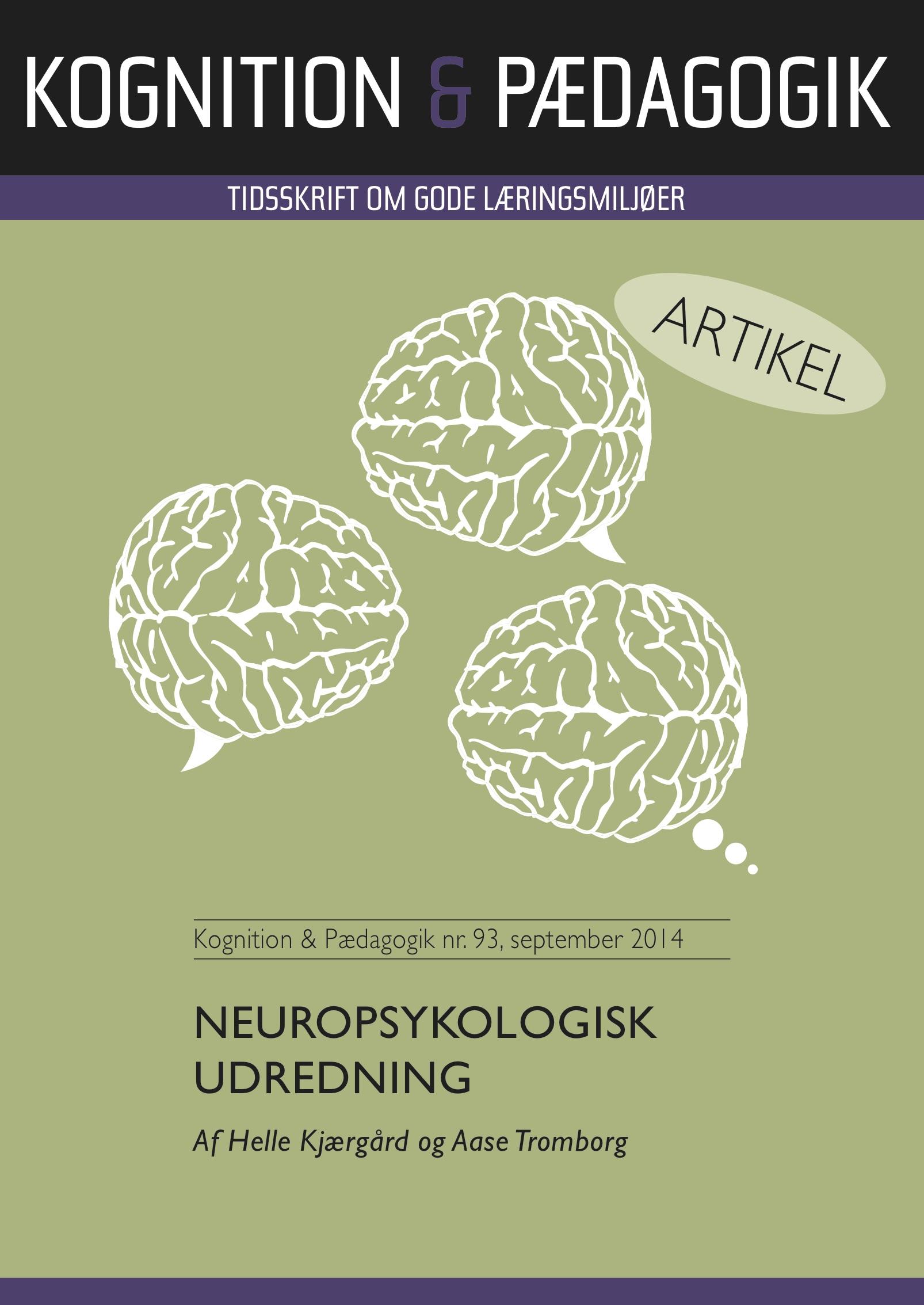 N/A Neuropsykologisk udredning - e-bog fra bog & mystik