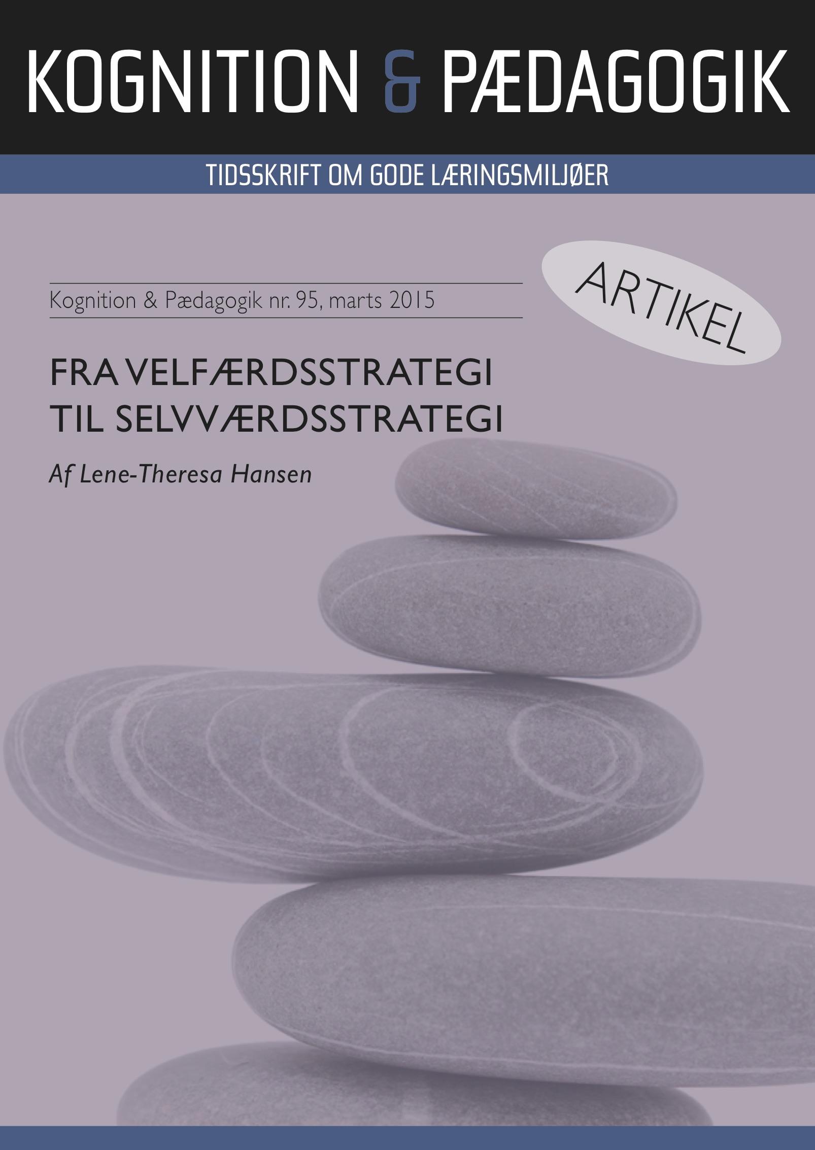 N/A Fra velfærdsstrategi til selvværdsstrategi - e-bog fra bog & mystik