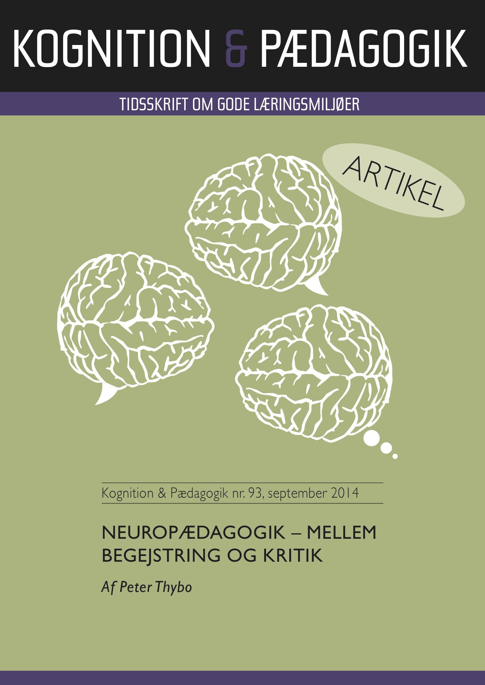 N/A – Neuropædagogik - mellem begejstring og kritik - e-bog fra bog & mystik