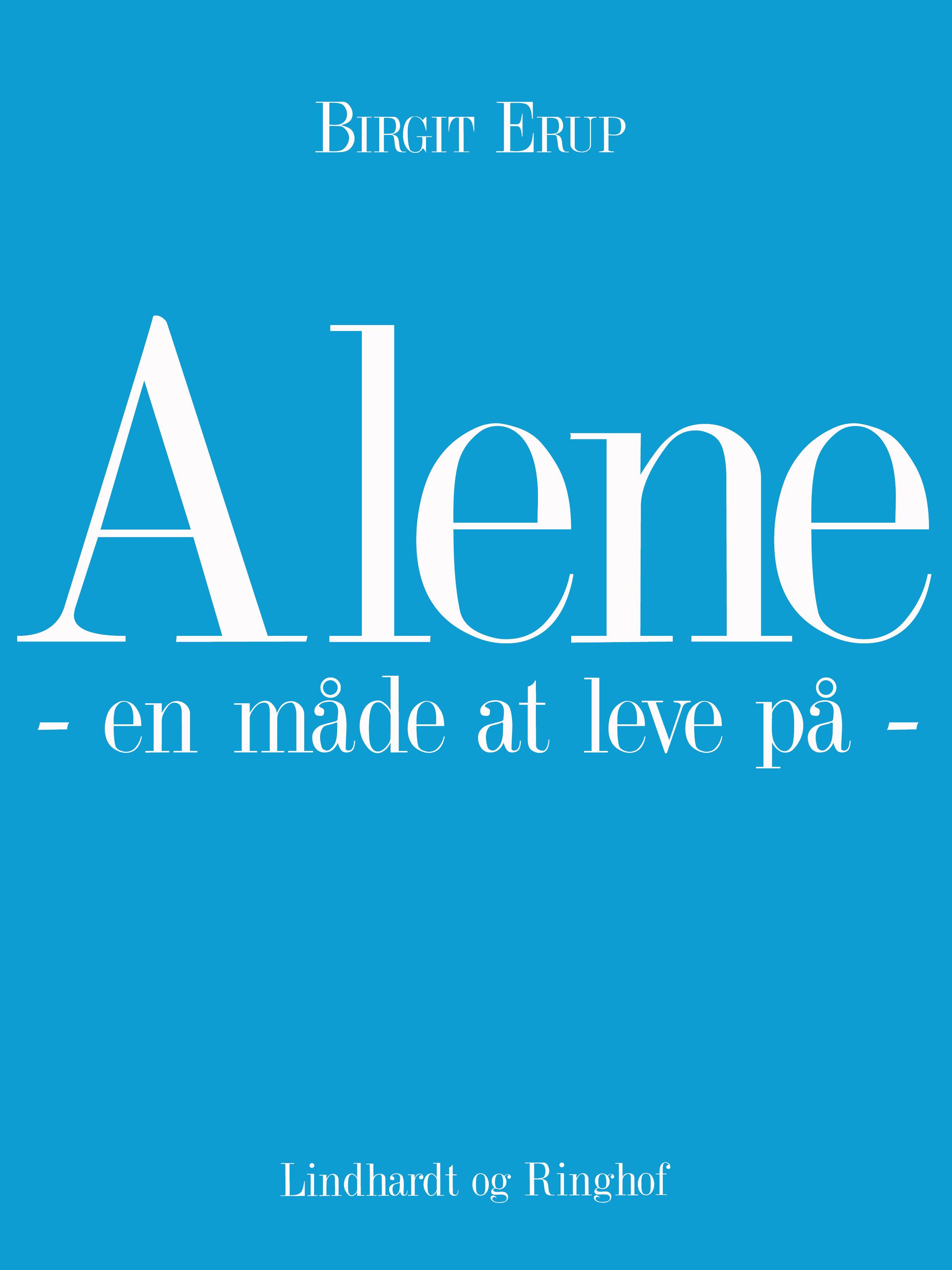 Image of   Alene - en måde at leve på - E-bog