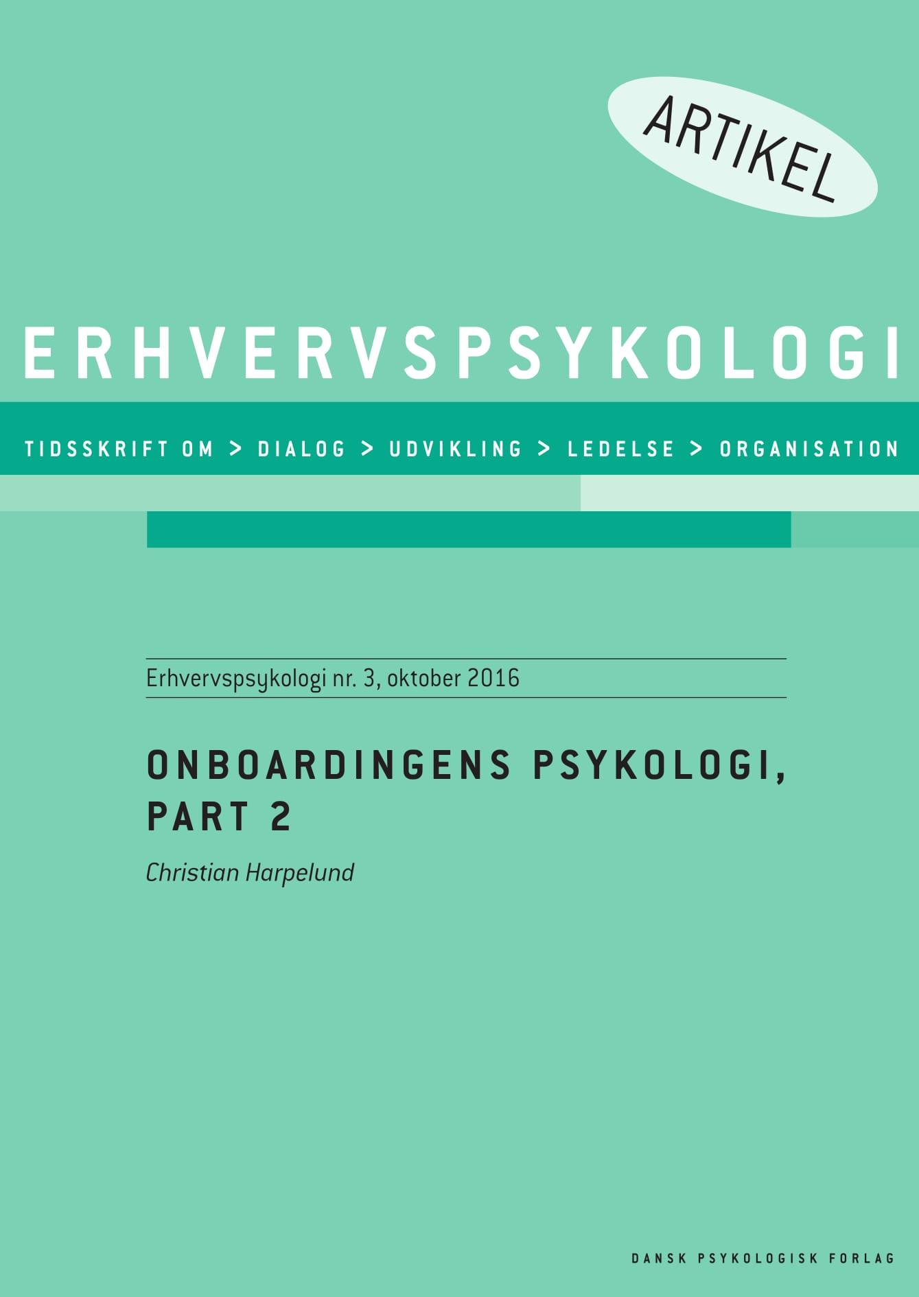 N/A – Onboardingens psykologi, part 2 - e-bog fra bog & mystik