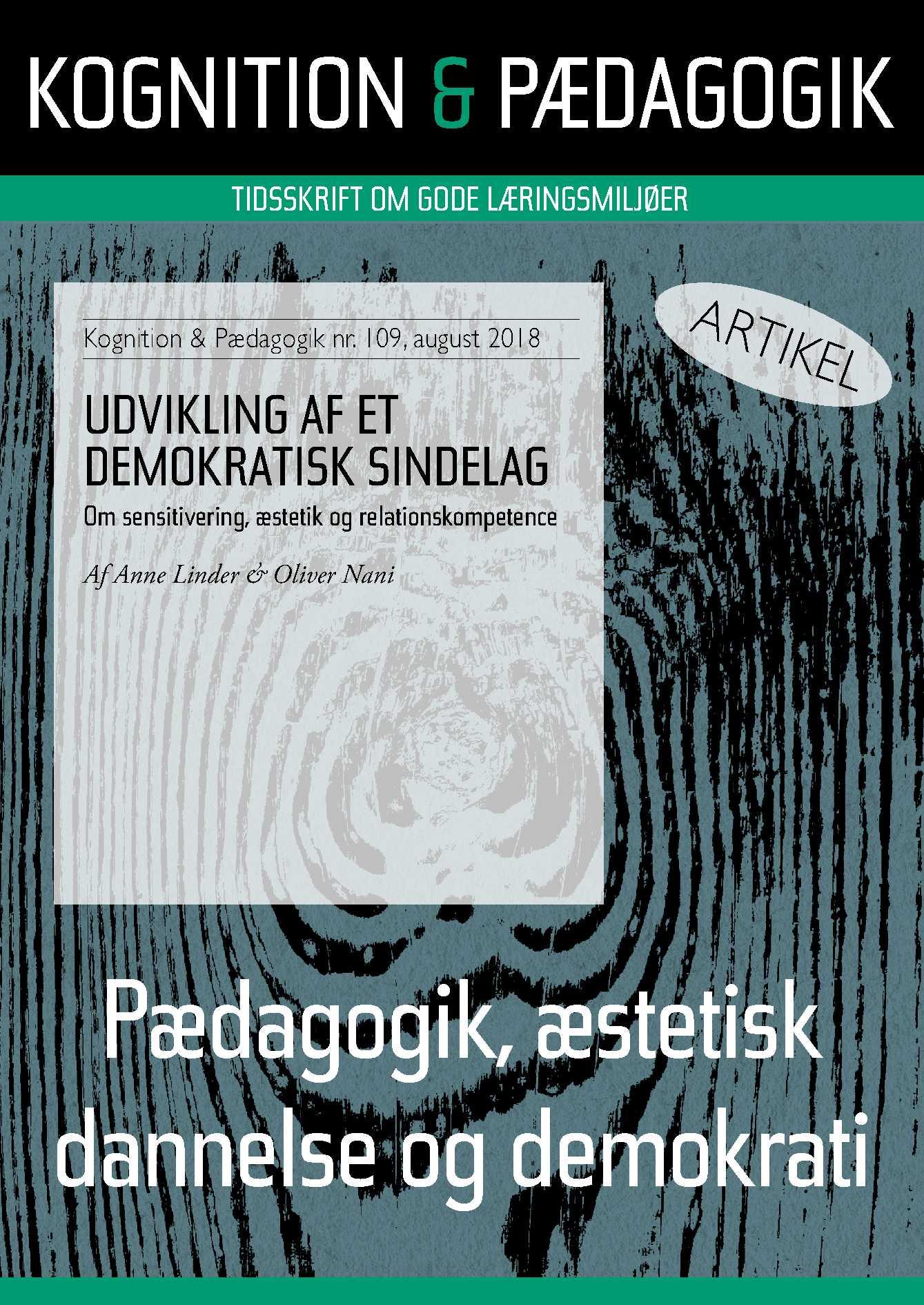 Image of   Udvikling af et demokratisk sindelag - E-bog