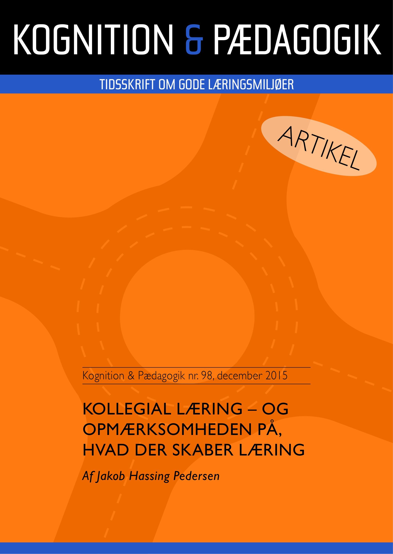 N/A – Kollegial læring - og opmærksomheden på, hvad der skaber læring - e-bog på bog & mystik