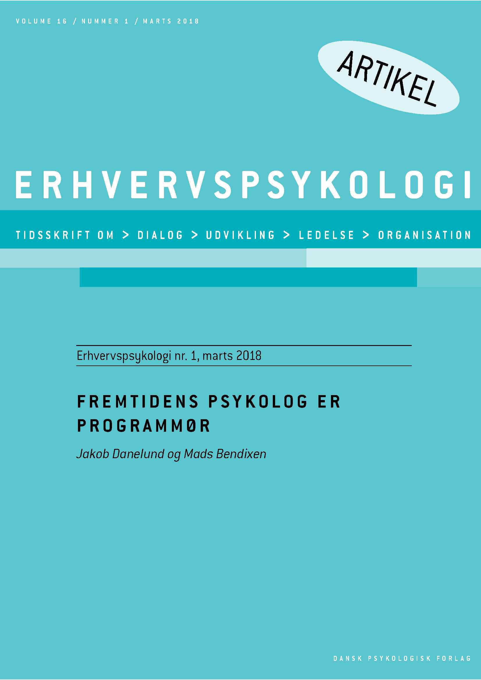 Fremtidens psykolog er programmør - E-bog