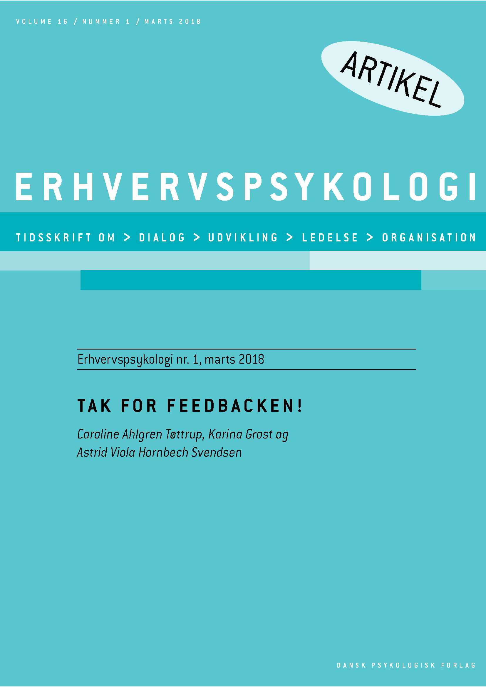 Tak for feedbacken! - E-bog