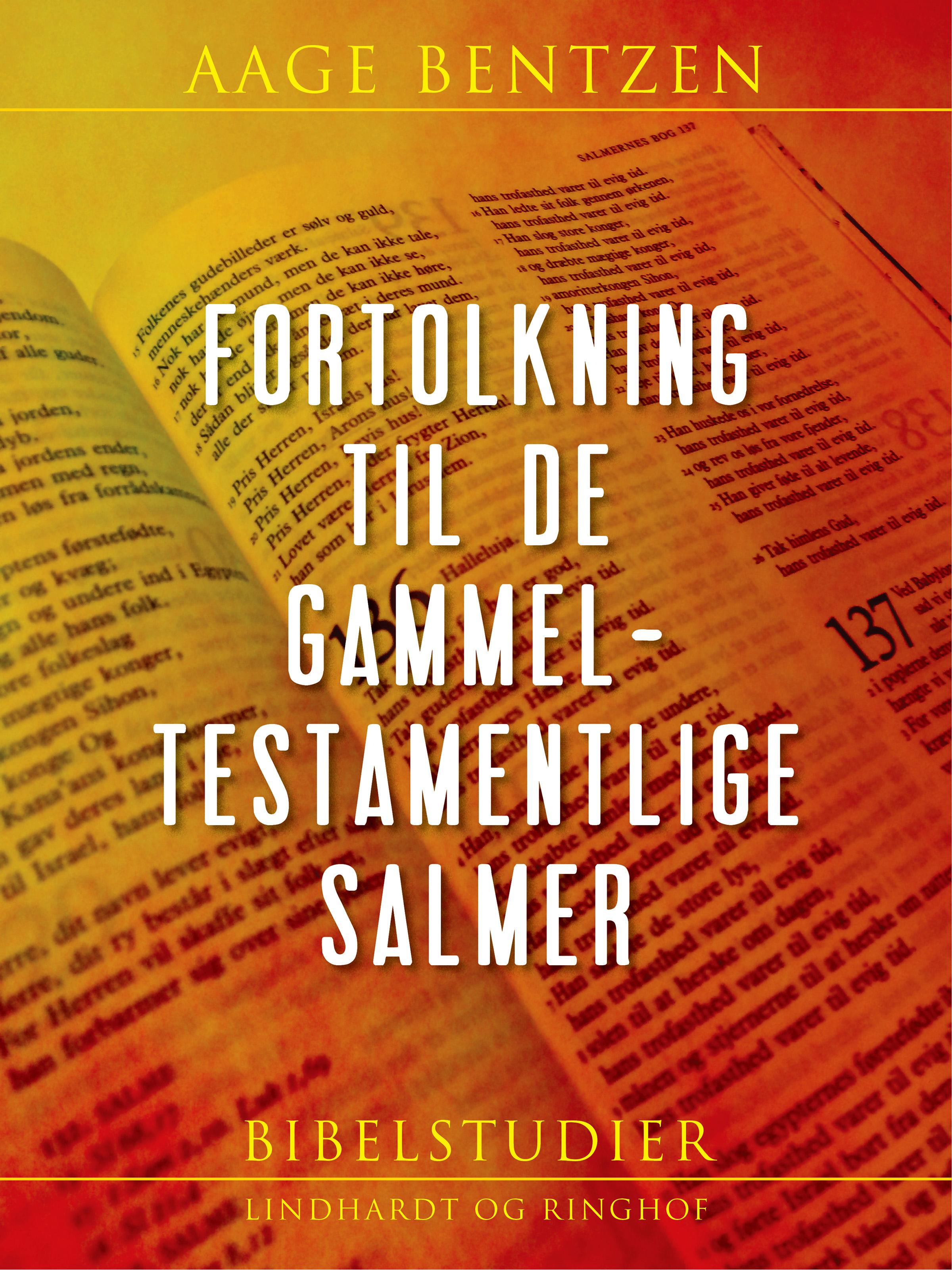 Image of   Fortolkning til de gammeltestamentlige Salmer - E-bog