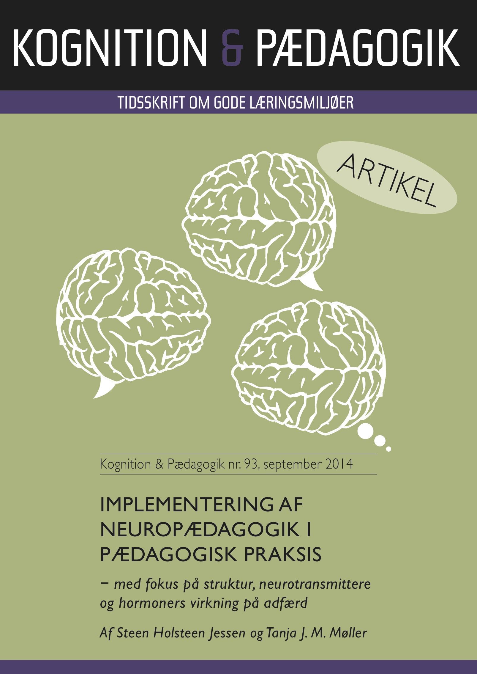 Implementering af neuropædagogik i pædagogisk praksis - e-bog fra N/A på bog & mystik