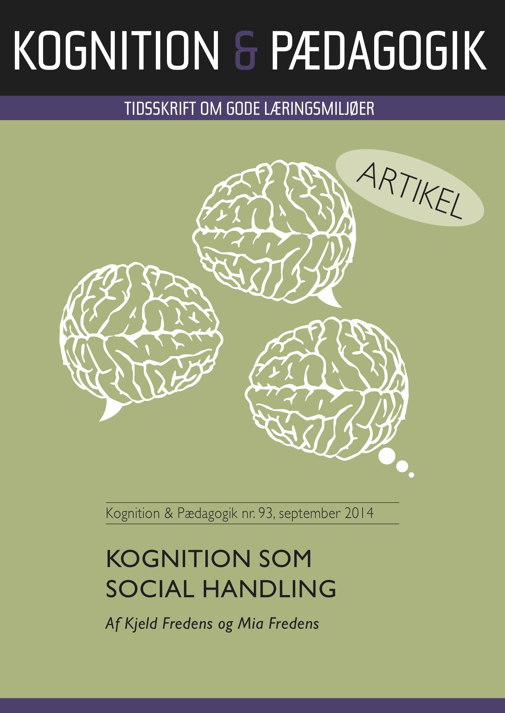 Kognition som social handling - e-bog fra N/A på bog & mystik
