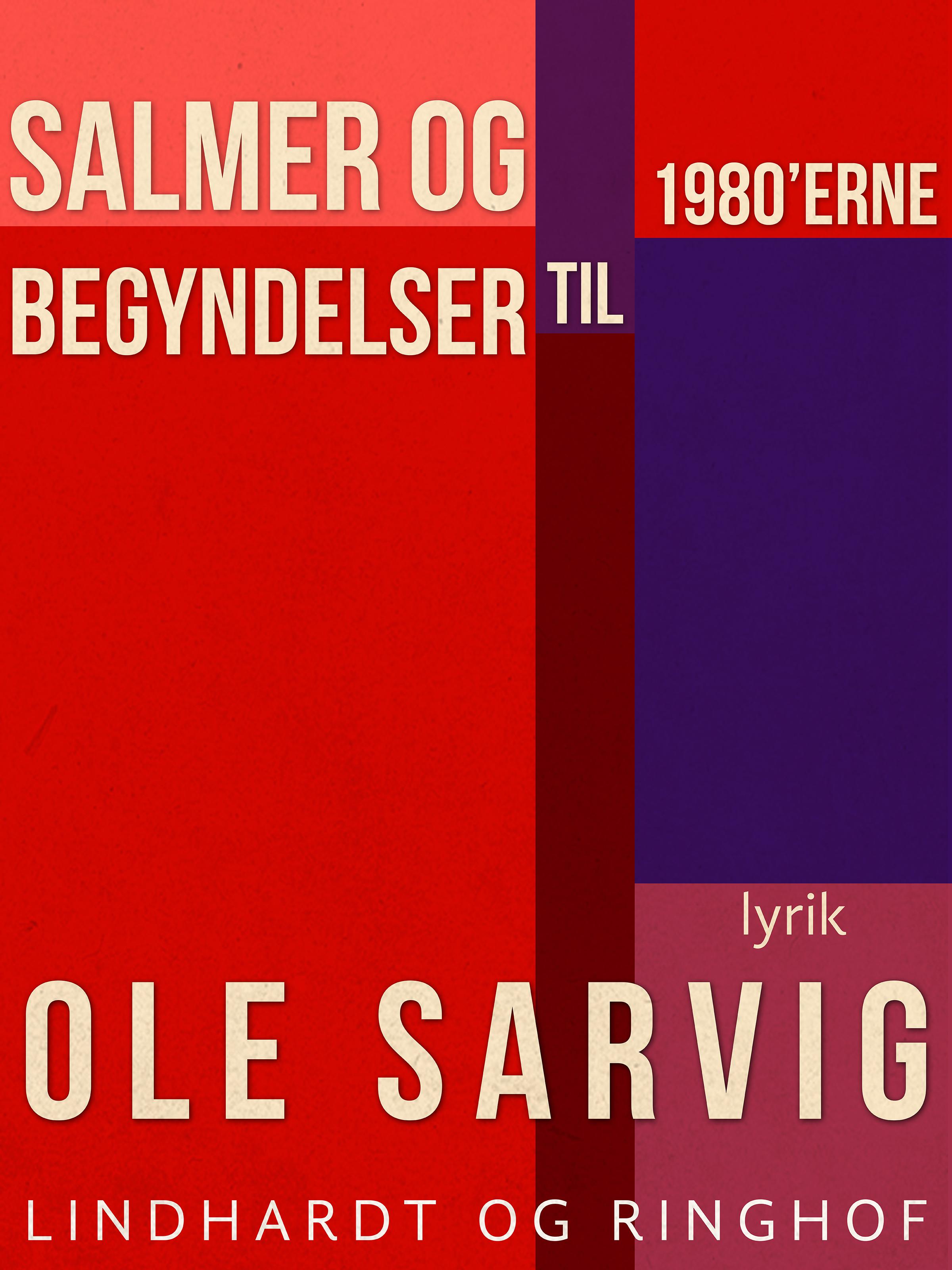Image of   Salmer og begyndelser til 1980erne - E-bog
