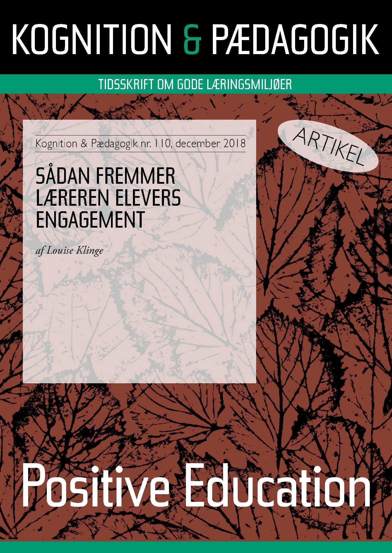 Image of   Sådan fremmer læreren elevers engagement - E-bog
