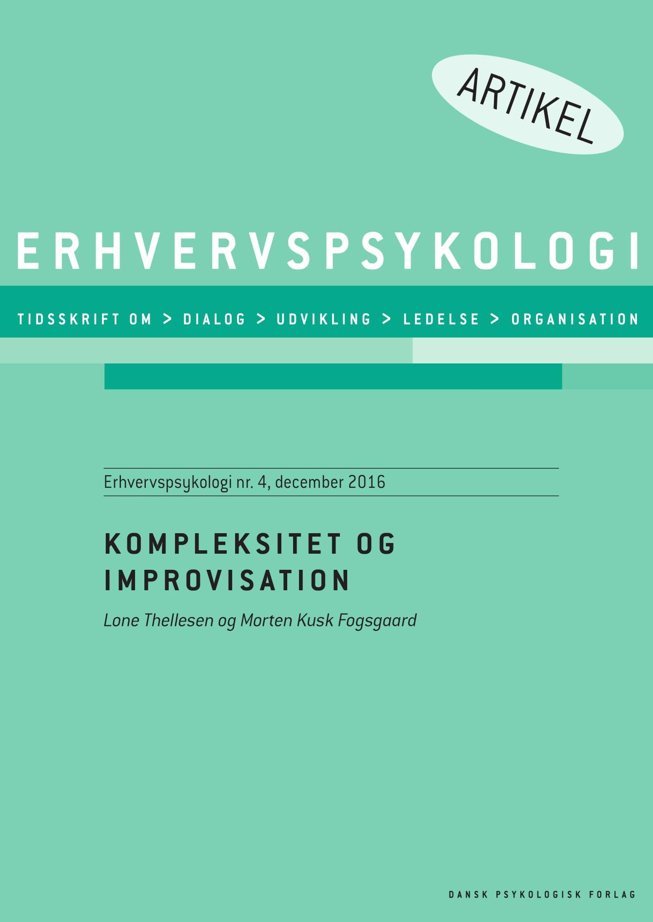 Image of   Kompleksitet og improvisation - E-bog