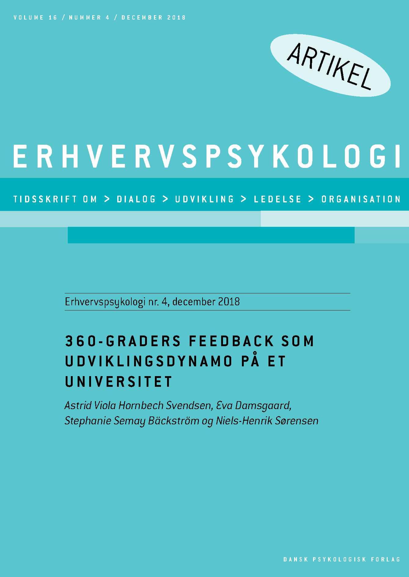 Image of   360 graders feedback som udviklingsdynamo på et universitet - E-bog