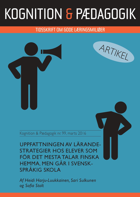 Uppfattningen av lärandestrategier hos elever som för det mesta talar finska hemma, men går i svenskspråkig skola - e-bog fra N/A på bog & mystik