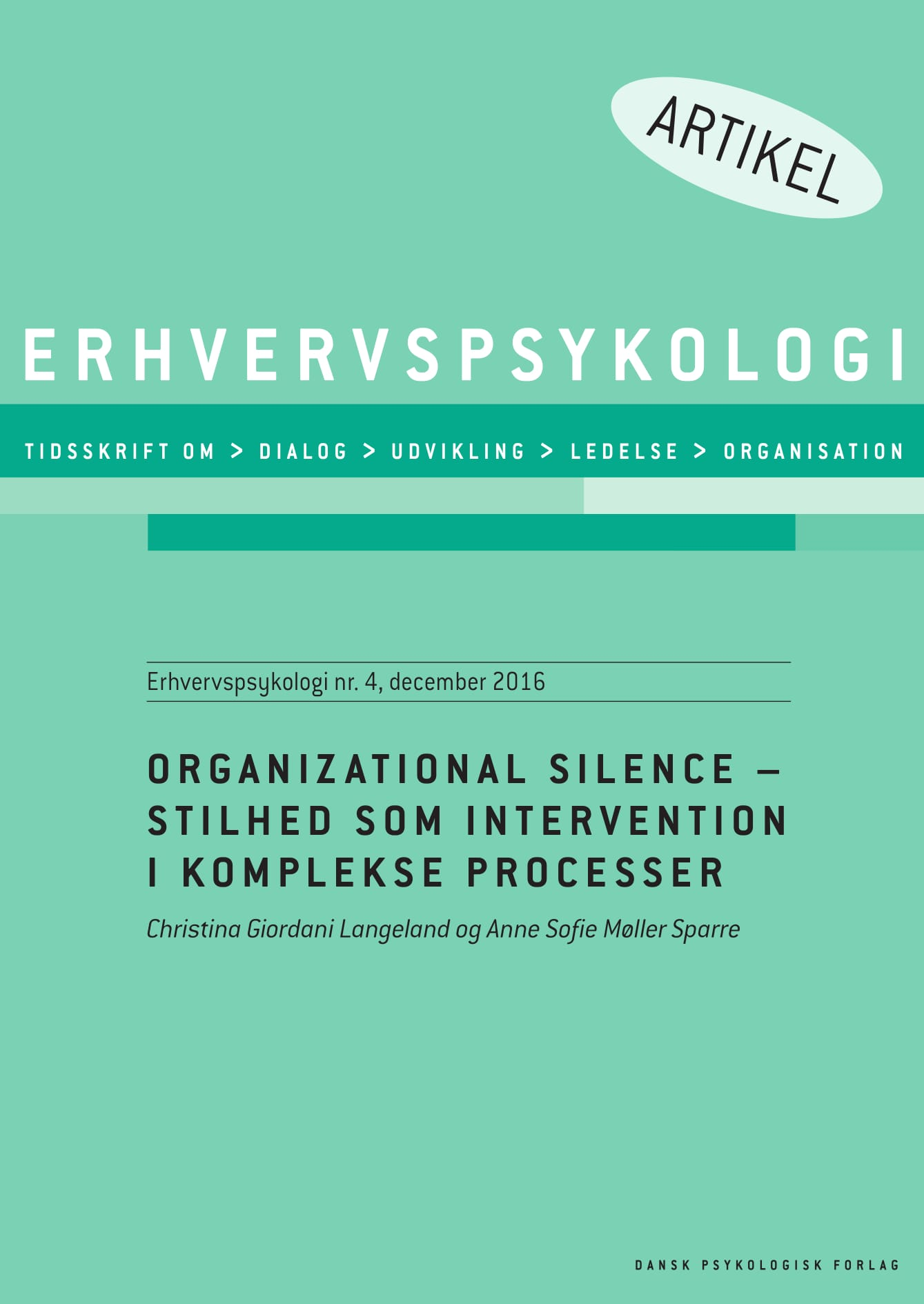 N/A Organizational silence  - e-bog på bog & mystik