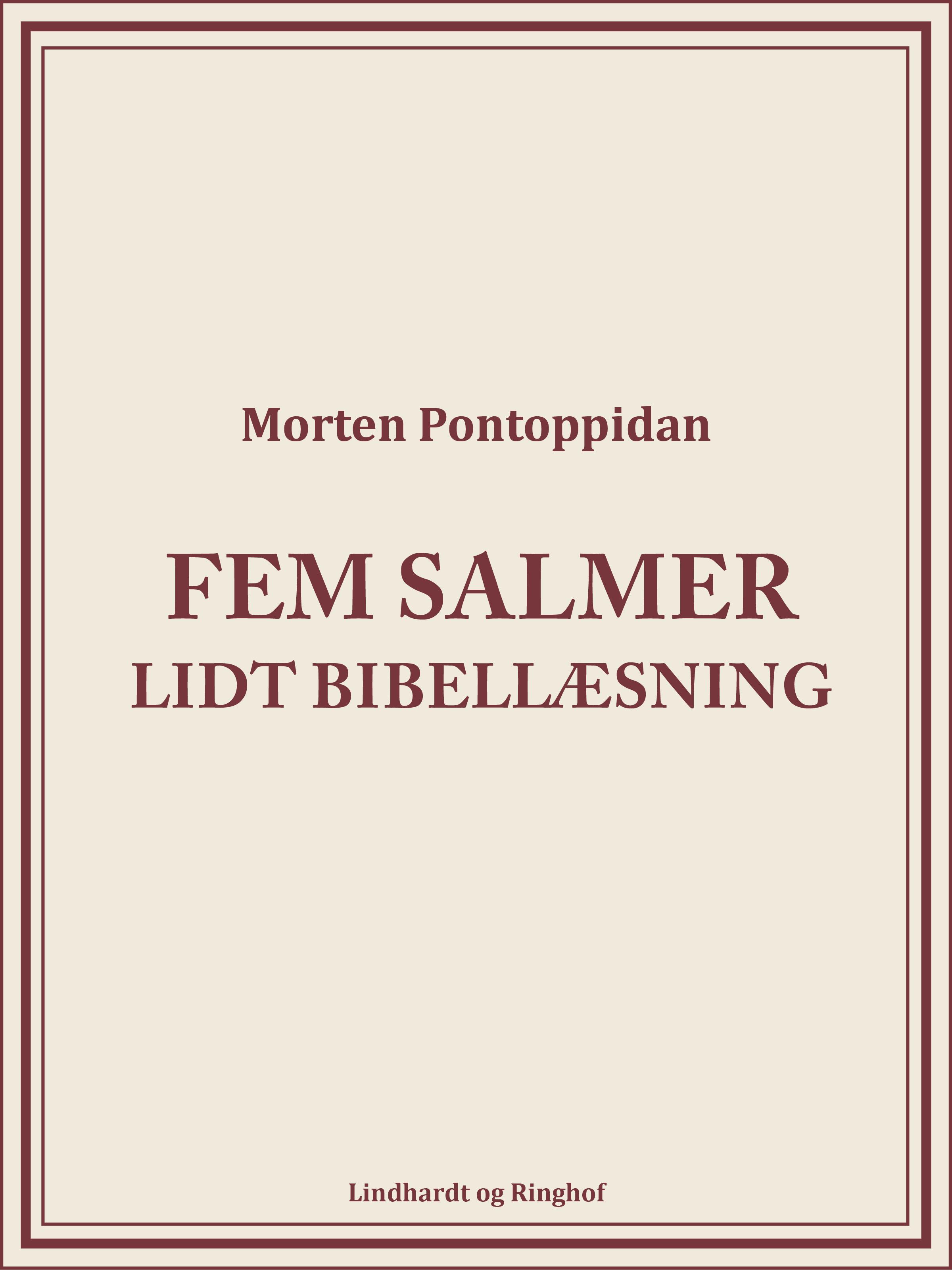 Image of   Fem salmer: Lidt bibellæsning - E-bog