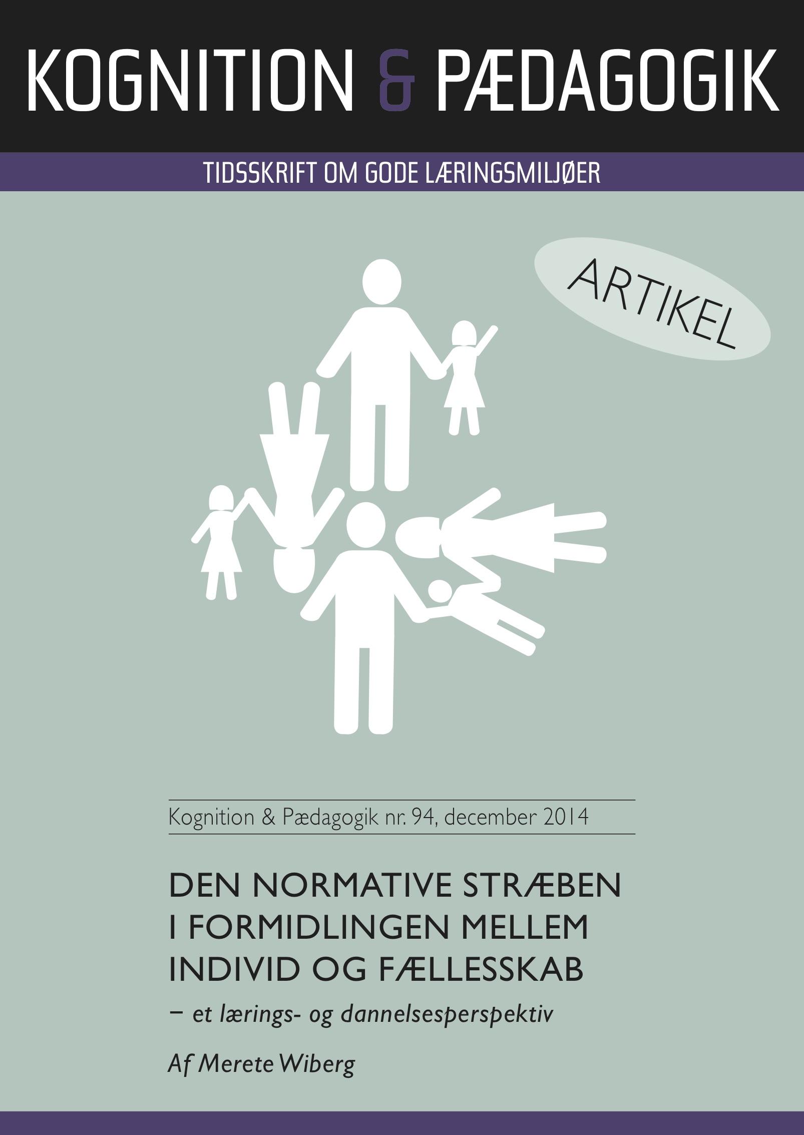 N/A Den normative stræben i formidlingen mellem individ og fællesskab - e-bog på bog & mystik