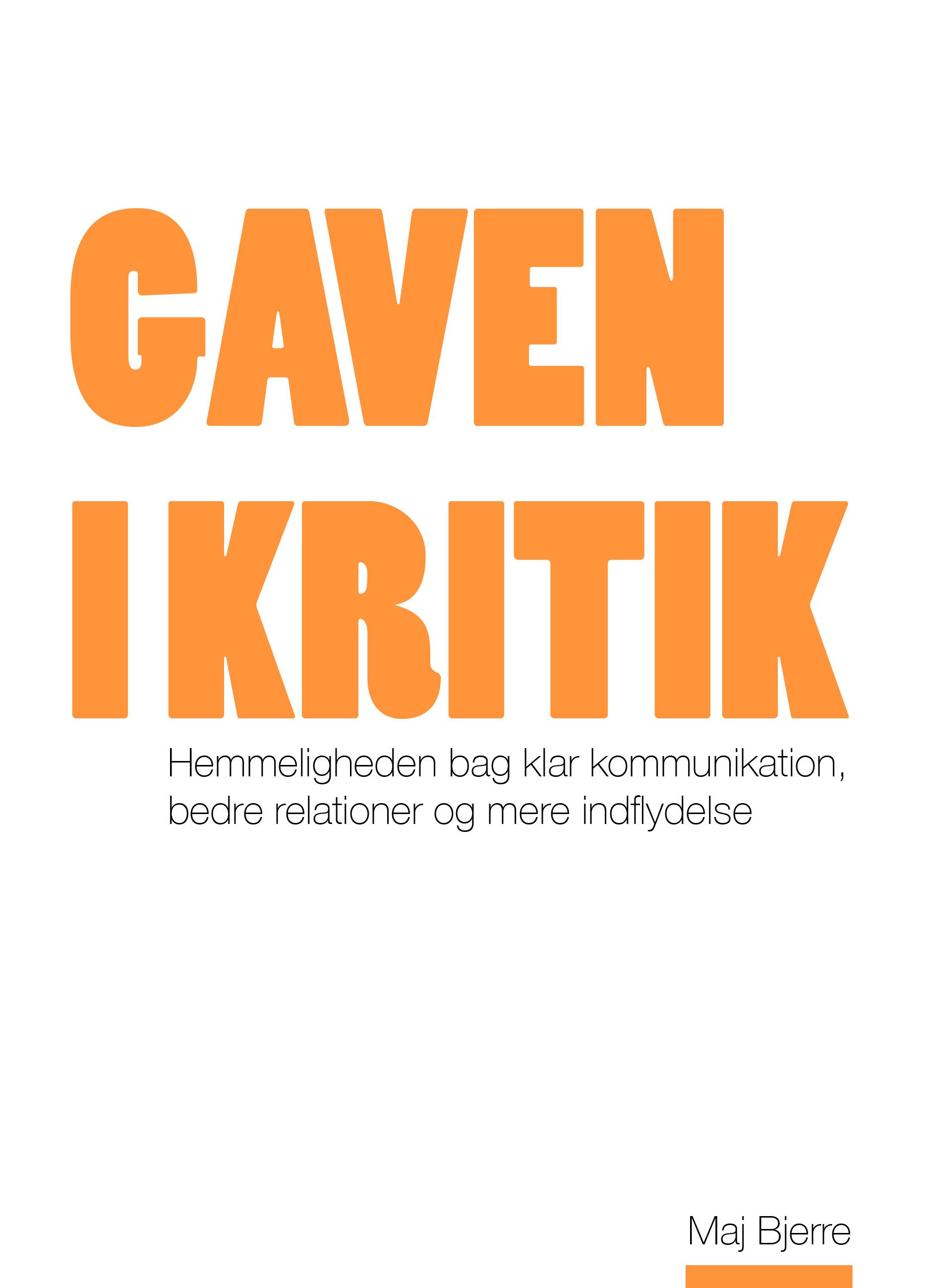 Image of   Gaven i kritik - E-lydbog
