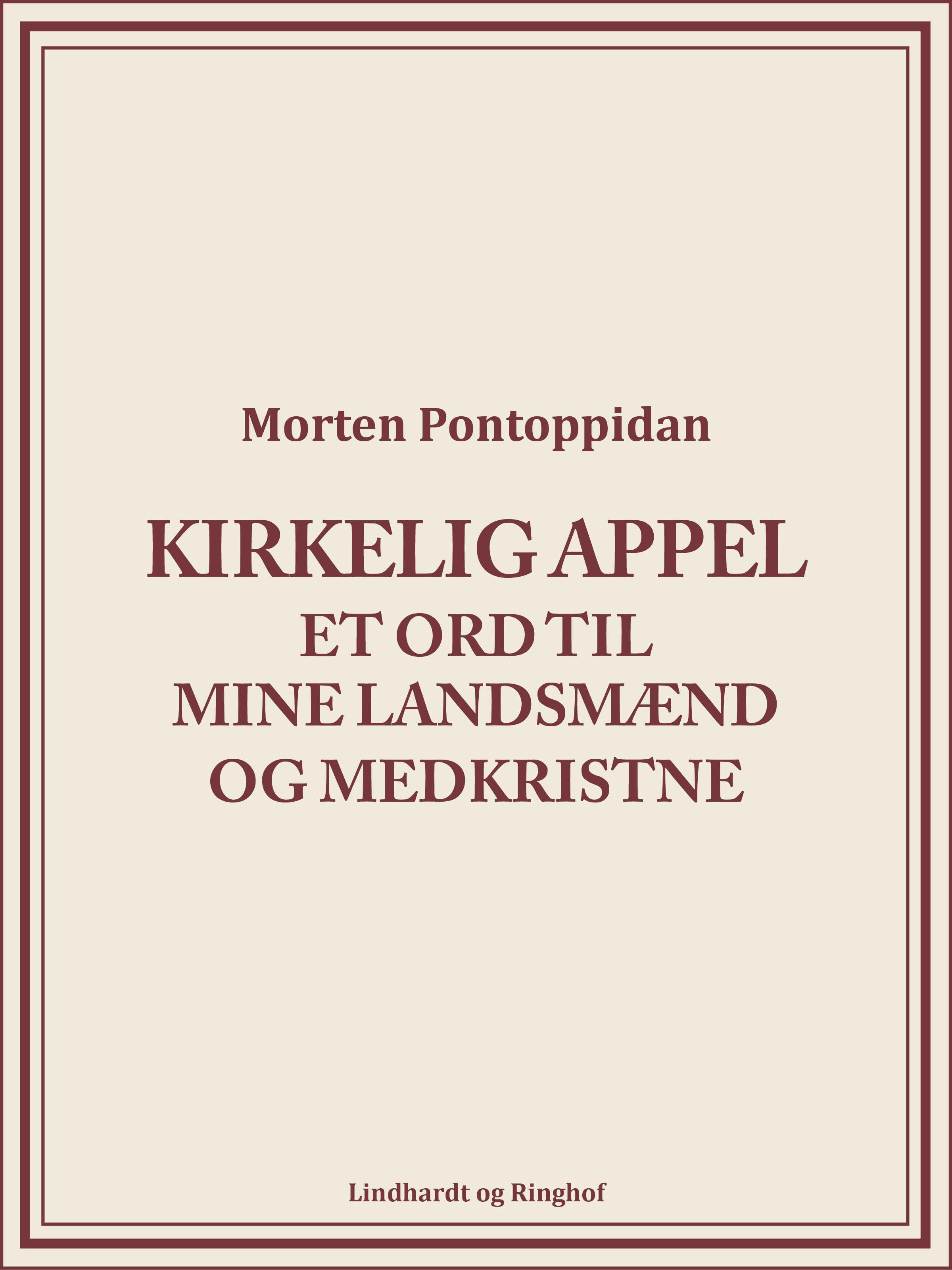 N/A Kirkelig appel: et ord til mine landsmænd og medkristne - e-bog fra bog & mystik