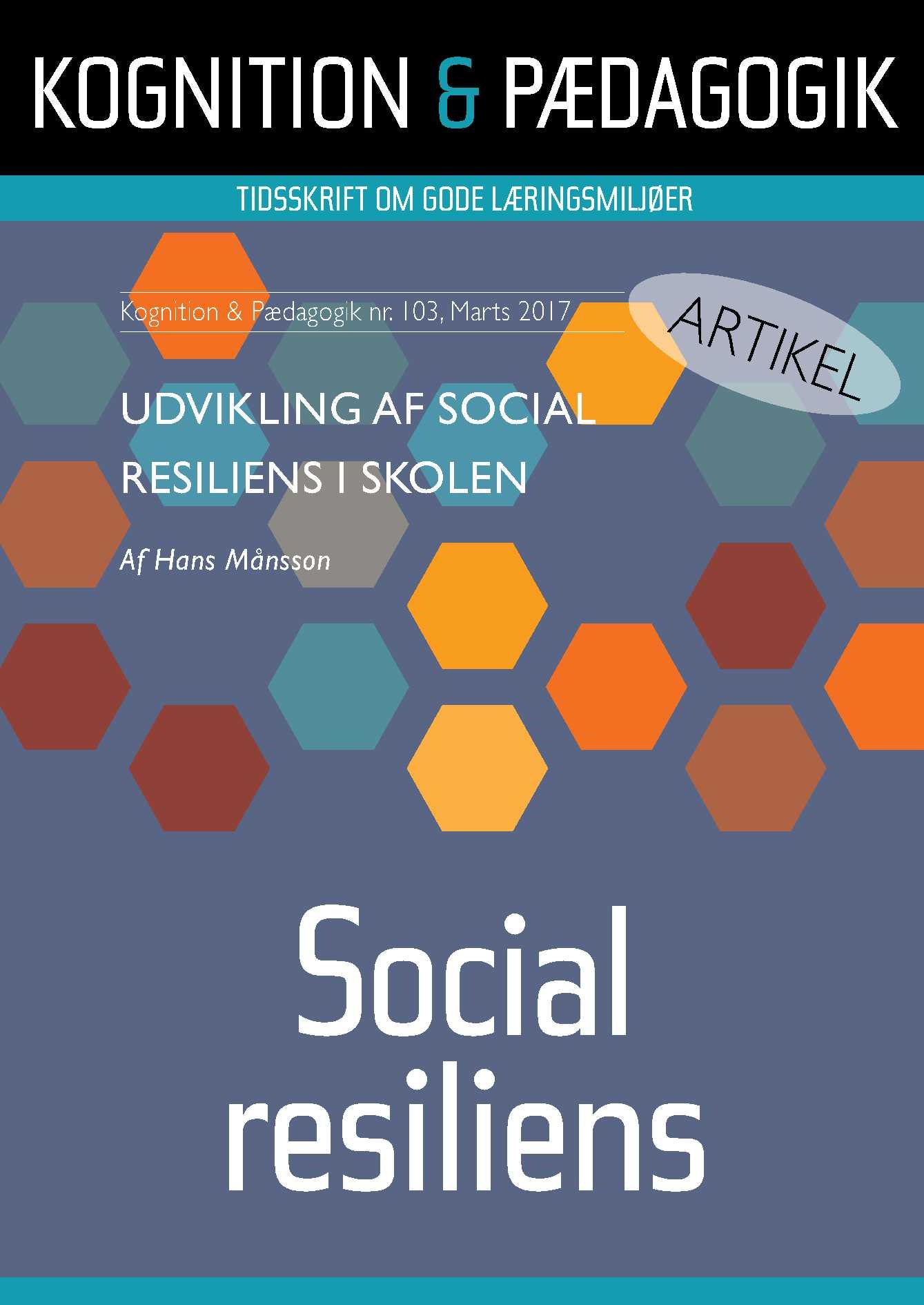 Image of   Udvikling af social resiliens i skolen - E-bog