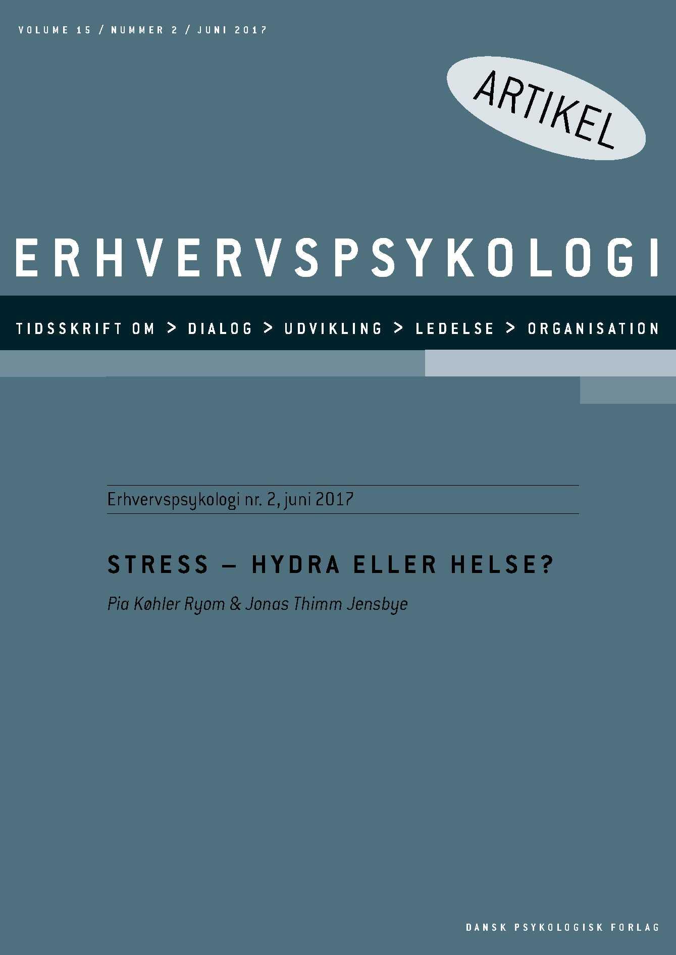 Image of   Stress - Hydra eller helse? - E-bog