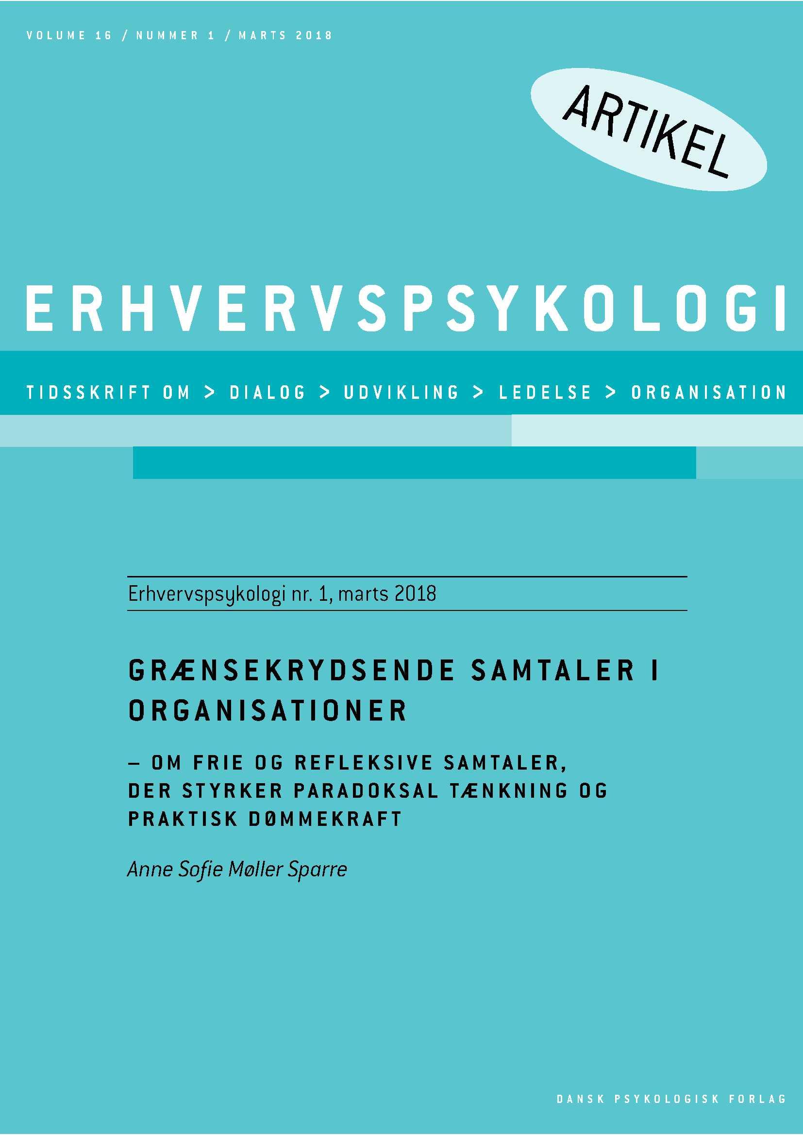 Grænsekrydsende samtaler i organisationer - E-bog