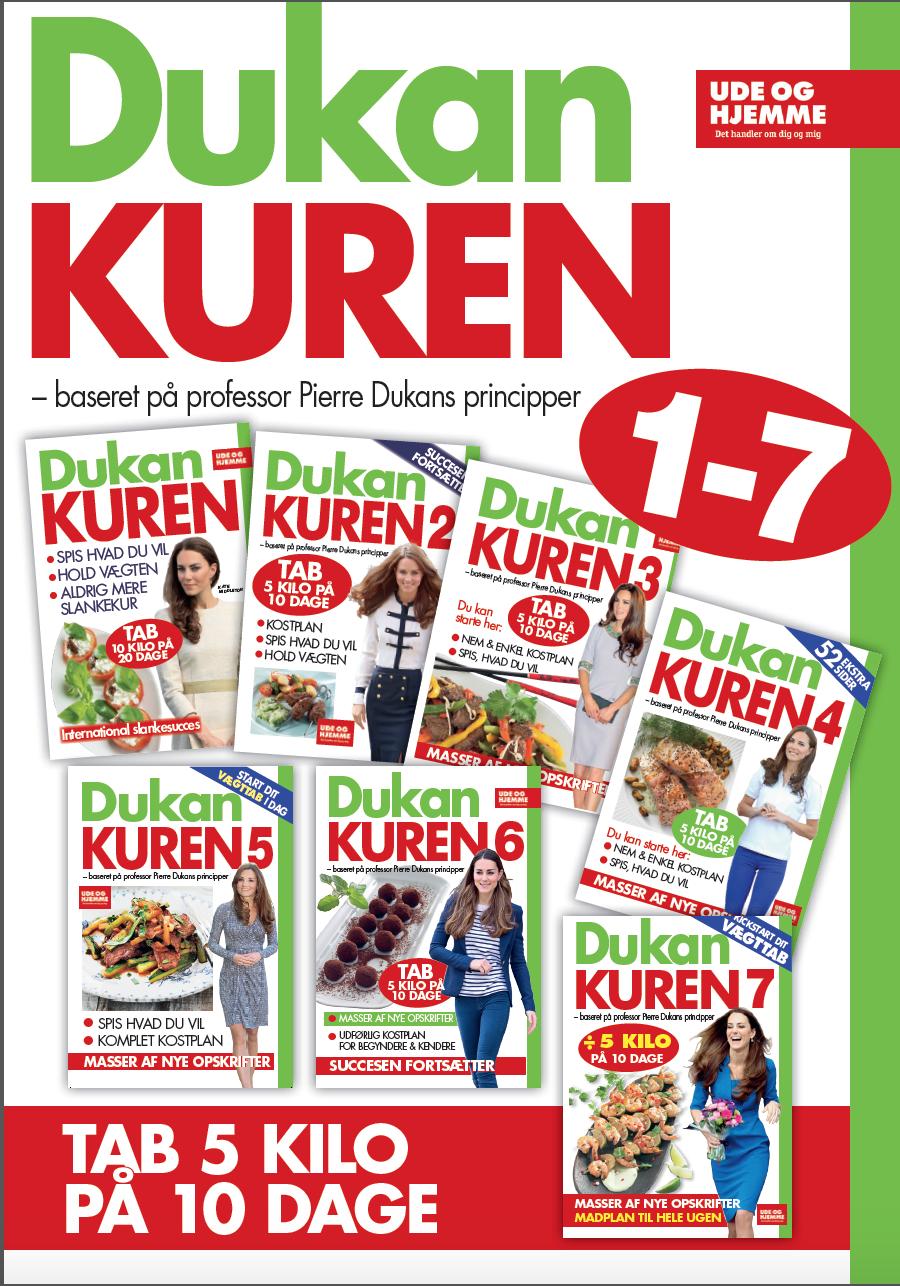 N/A – Dukan-kuren - samlede kure 1-7 - e-bog på bog & mystik