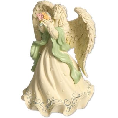 N/A Engel - angel with flowers - angelstar - 16cm fra bog & mystik