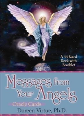 N/A Englekort - messages from your angels - m/engelsk brugervejl - doreen  virtue på bog & mystik