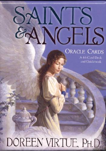 Saints & angels orakelkort - doreen virtue - m/engelsk brugervejl fra N/A på bog & mystik