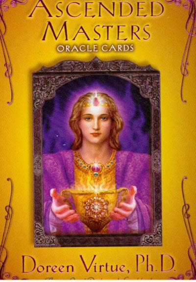 Ascended masters oracle cards - doreen virtue ph.d. -m/engelsk vejledning fra N/A på bog & mystik