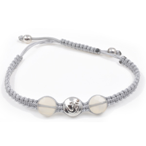 N/A Aum armbånd i sølv med 1 diamant - la chance på bog & mystik