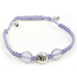N/A – Aum armbånd i sølv med 1 diamant - la chance på bog & mystik