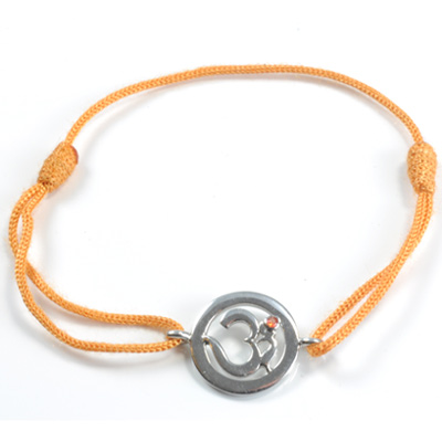 N/A Chakra aum armbånd - 2 chakra - med citrin - 14mm fra bog & mystik