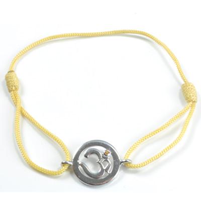 Chakra aum armbånd - 3 chakra - med safir - 14mm fra N/A fra bog & mystik