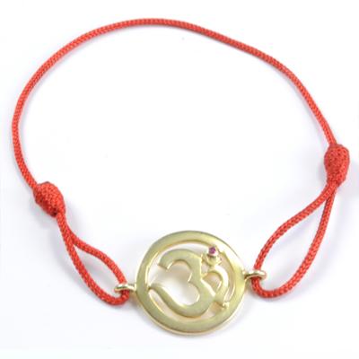 N/A – Chakra aum armbånd - 1 chakra - med rubin - 18mm - forgyldt fra bog & mystik