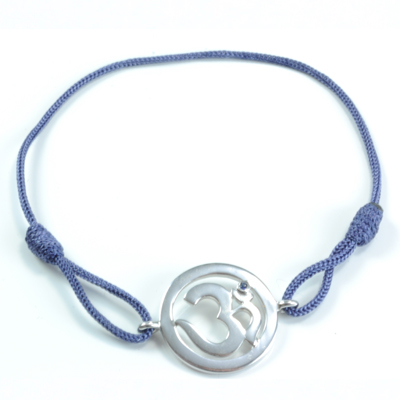 N/A – Chakra aum armbånd - 6 chakra - med safir - 18mm på bog & mystik