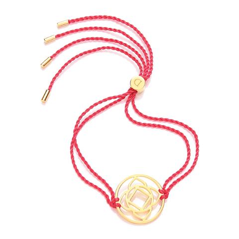 N/A Chakra armbånd daisy - 1 chakra - forgyldt på bog & mystik