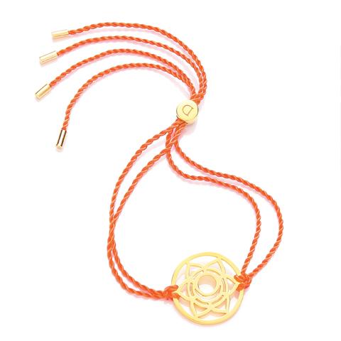 Chakra armbånd daisy - 2 chakra - forgyldt fra N/A fra bog & mystik