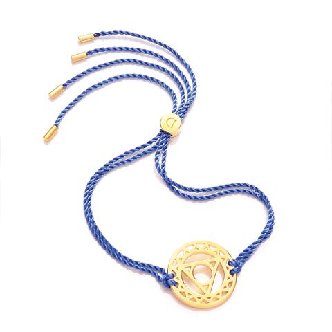 N/A Chakra armbånd daisy - 5 chakra - forgyldt fra bog & mystik