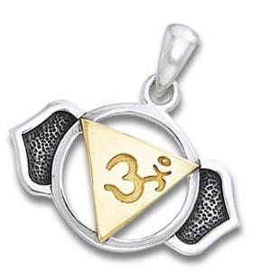 N/A Chakra vedhæng 6 chakra - ajna - pinealchakraet - 23mm - u/kæde fra bog & mystik