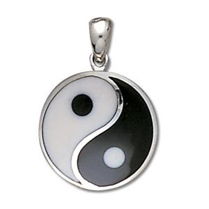 Yin Yang vedhæng 29mm u/kæde