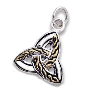 N/A – Vedhæng med triquetra - treenighedssymbolet - 20mm - u/kæde på bog & mystik