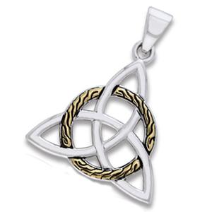 N/A – Vedhæng med triquetra - treenighedssymbolet - 34mm - u/kæde fra bog & mystik
